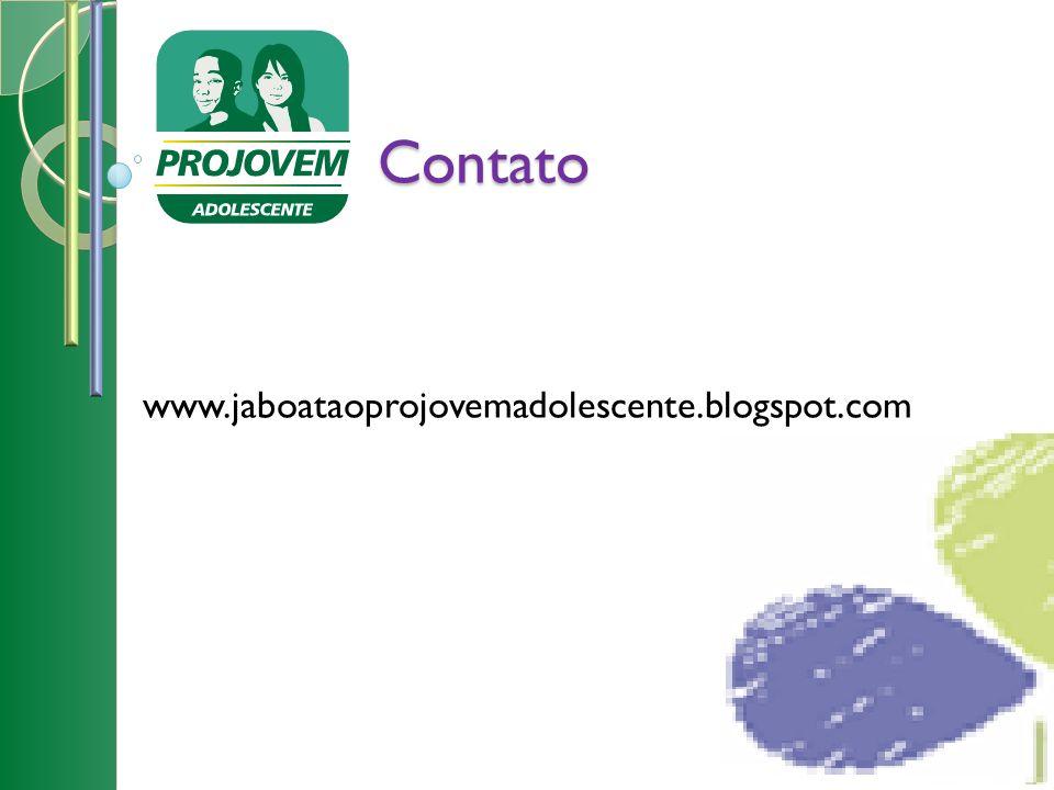 Contato www.jaboataoprojovemadolescente.blogspot.com