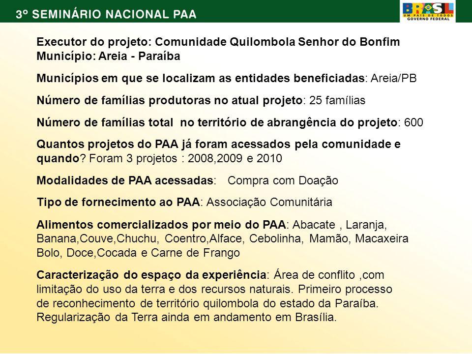 O ACESSO A POLÍTICA PÚBLICA Como a comunidade conheceu o PAA.