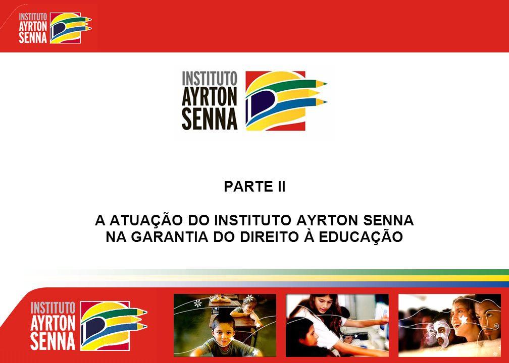 PARTE II A ATUAÇÃO DO INSTITUTO AYRTON SENNA NA GARANTIA DO DIREITO À EDUCAÇÃO