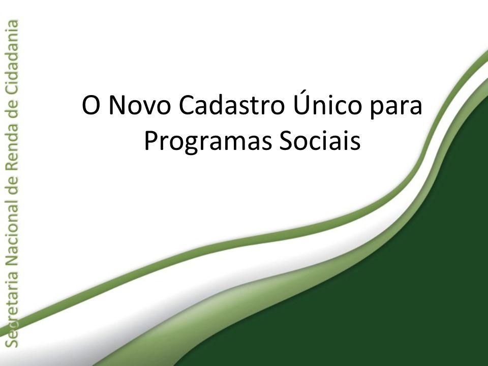 Capacitação Novos Formulários Para que os entrevistadores de todo o Brasil compreendessem essas mudanças, a Senarc desenvolveu um programa nacional de capacitação envolvendo todos os estados, os municípios e o Distrito Federal, organizado da seguinte forma: 1ª etapa: Formação de instrutores para capacitação de entrevistadores sobre os novos formulários.