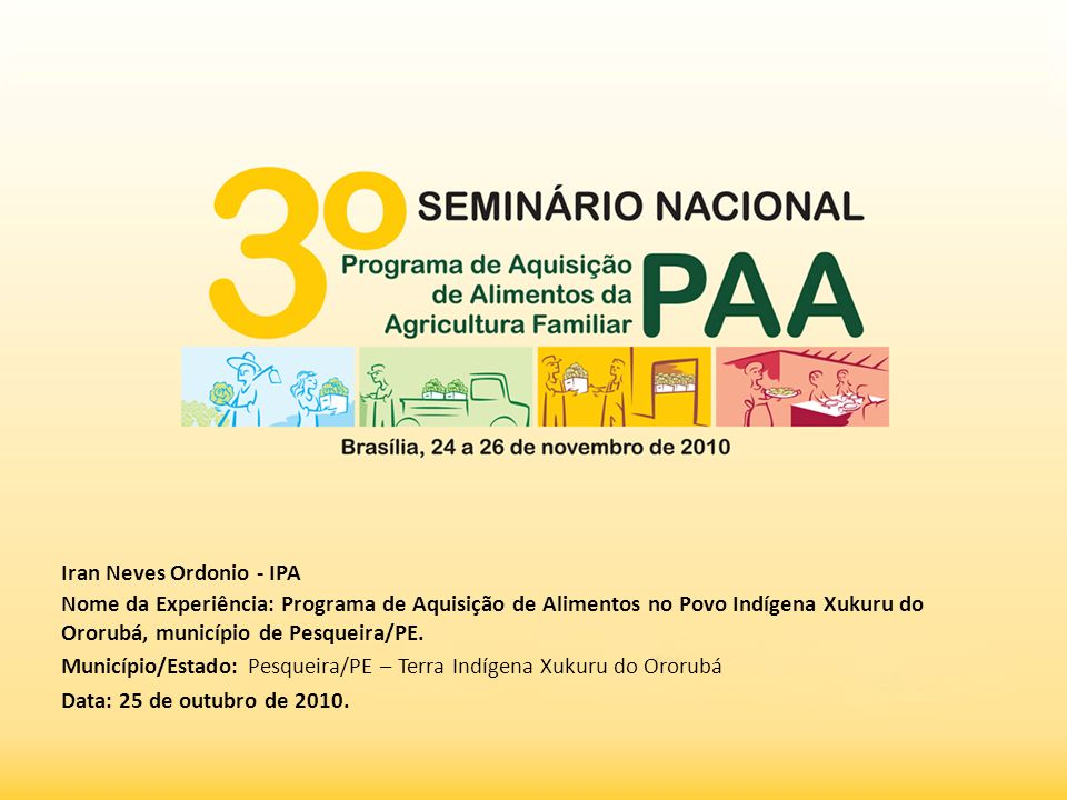 MUNICÍPIO DE PESQUEIRA - PE POPULAÇÃO: 61.337 IBGE, 2010.