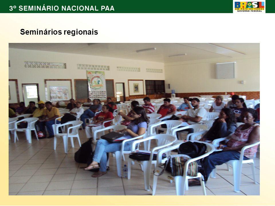 ; Seminários regionais