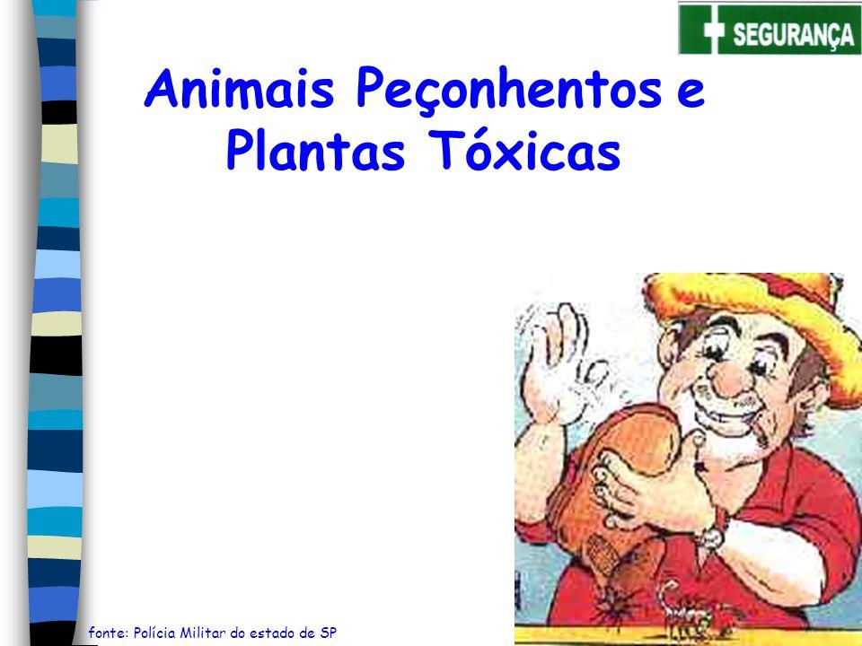 Animais Peçonhentos e Plantas Tóxicas fonte: Polícia Militar do estado de SP