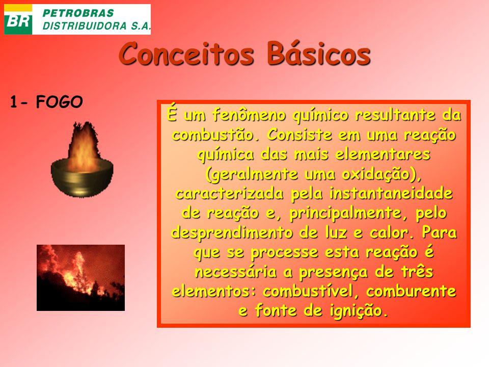 Conceitos Básicos 1- FOGO É um fenômeno químico resultante da combustão. Consiste em uma reação química das mais elementares (geralmente uma oxidação)