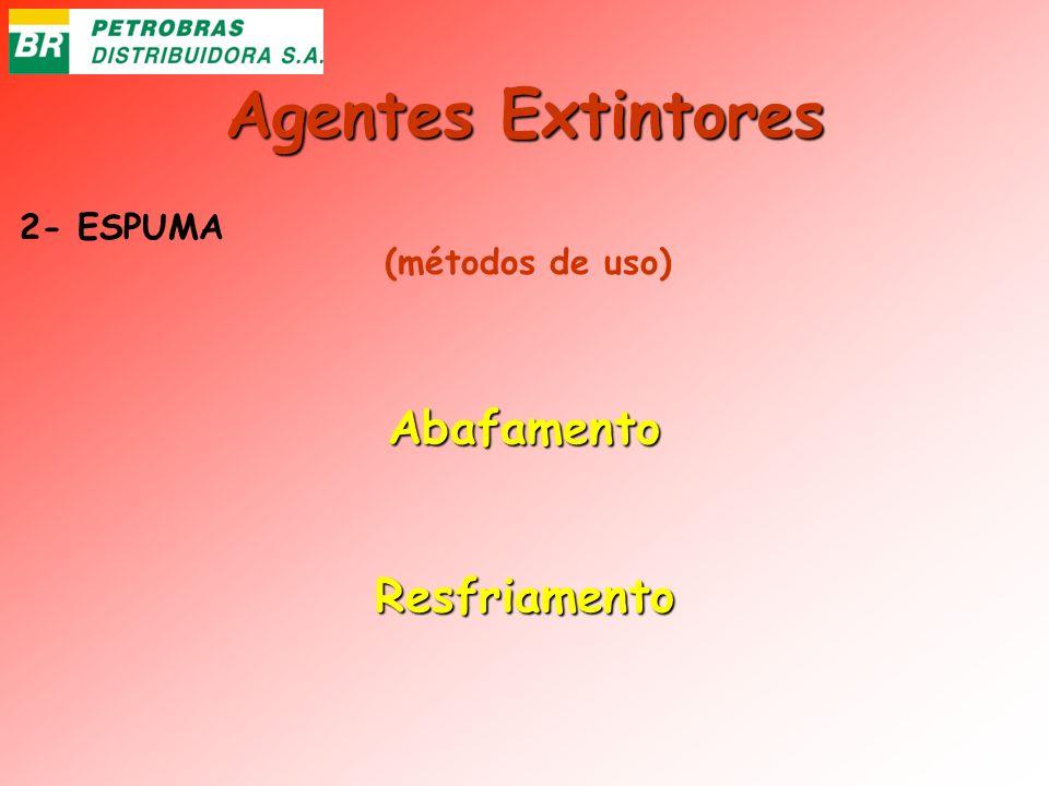 Agentes Extintores 2- ESPUMA AbafamentoResfriamento (métodos de uso)