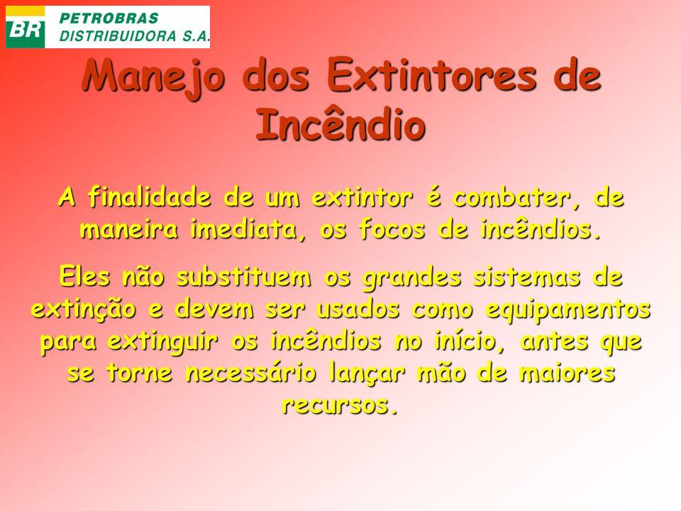 Manejo dos Extintores de Incêndio A finalidade de um extintor é combater, de maneira imediata, os focos de incêndios. Eles não substituem os grandes s