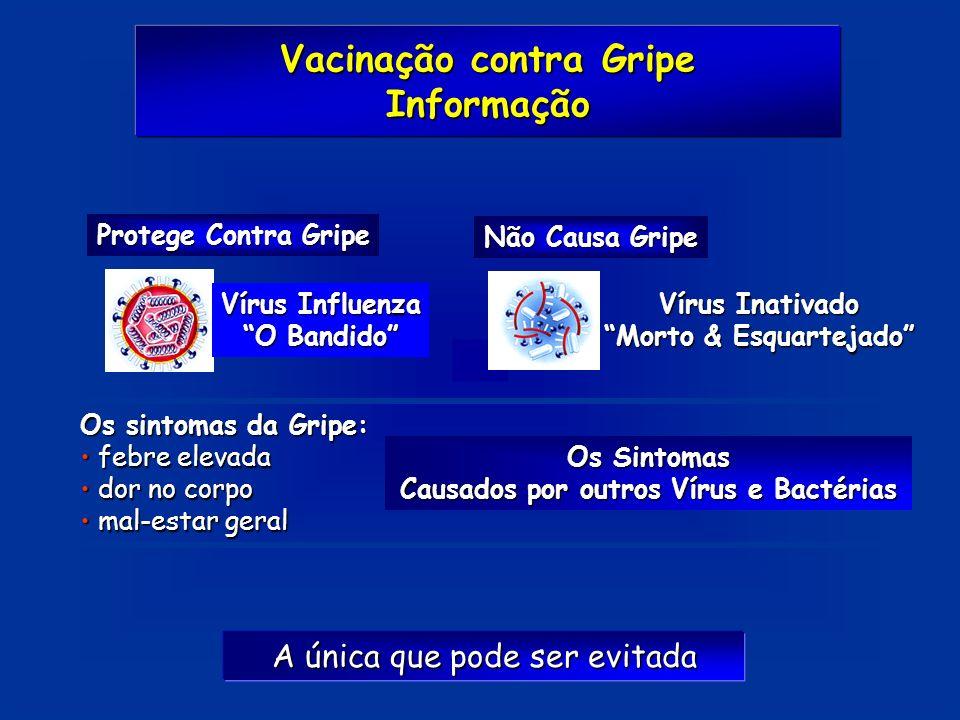 Informação Protege Contra Gripe Vírus Influenza O Bandido Não Causa Gripe Vírus Inativado Morto & Esquartejado Os sintomas da Gripe: febre elevada feb
