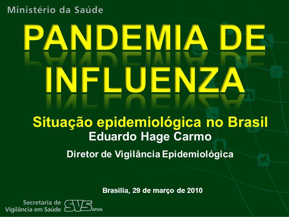 Brasilia, 29 de março de 2010 Situação epidemiológica no Brasil Eduardo Hage Carmo Diretor de Vigilância Epidemiológica