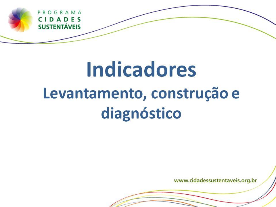 Indicadores Levantamento, construção e diagnóstico