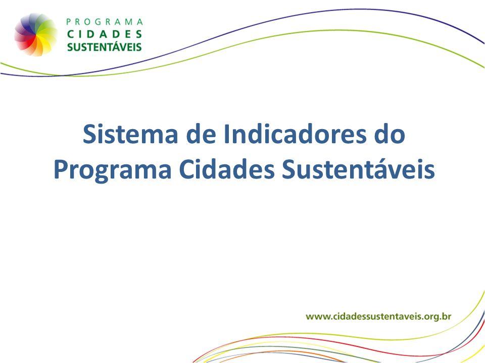 Sistema de Indicadores do Programa Cidades Sustentáveis