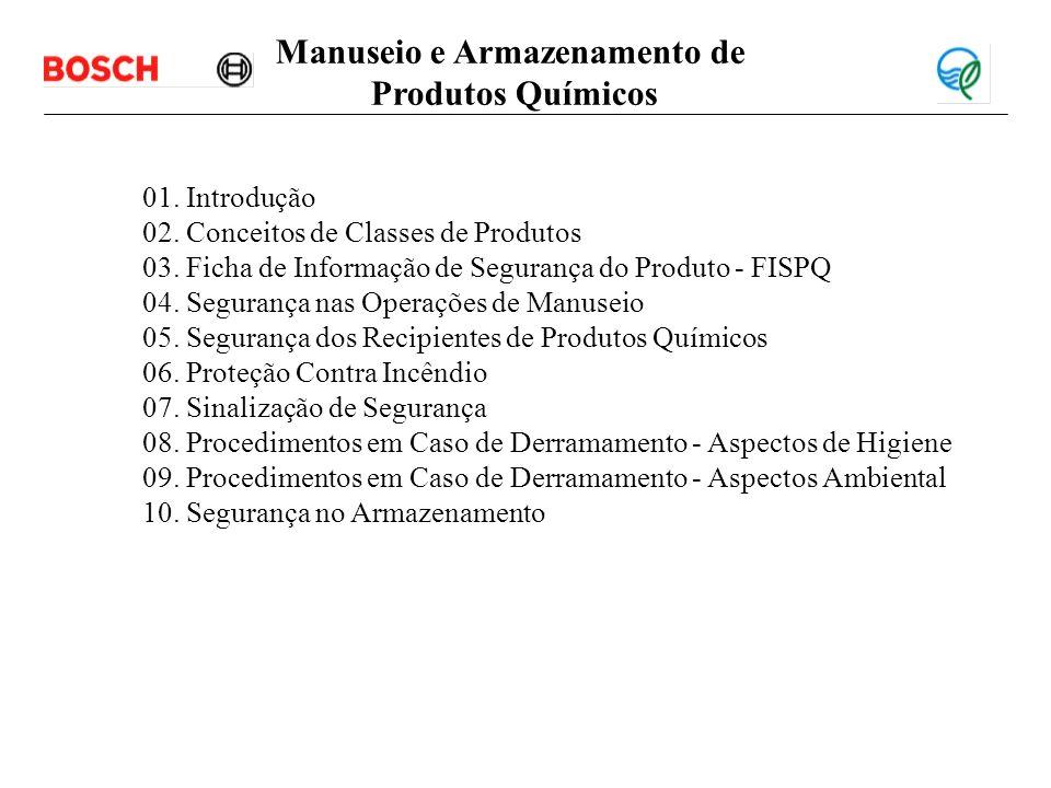 Introdução Objetivo: Informar e esclarescer aspectos de segurança no manuseio e armazenamento de produtos químicos.
