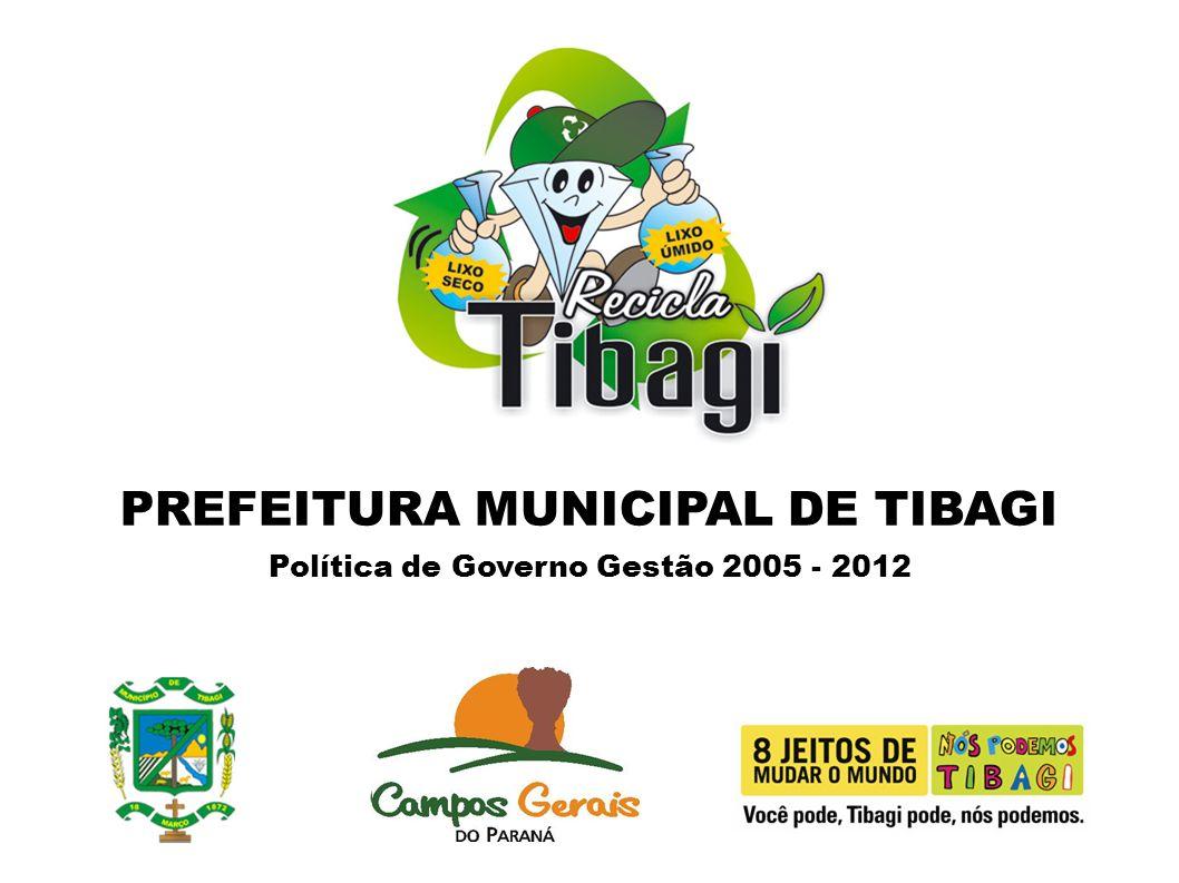 PREFEITURA MUNICIPAL DE TIBAGI Política de Governo Gestão 2005 - 2012