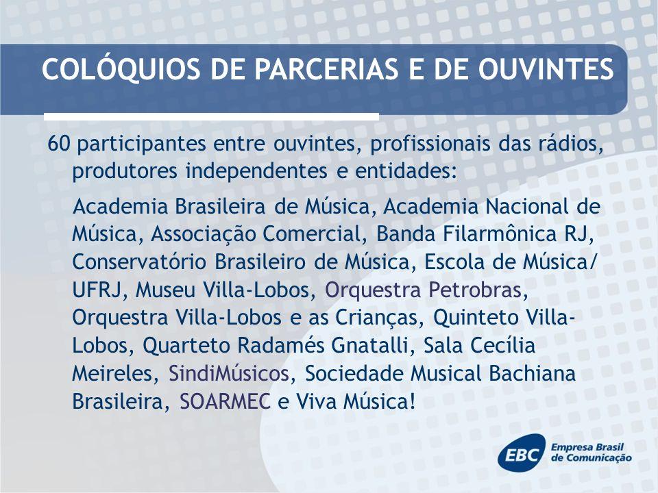 REDE NACIONAL DE RÁDIOS PÚBLICAS - Rede de Rádios Públicas da Amazônia (09 emissoras): Rádio Aldeia FM e Rádio Difusora Acreana (AC); Rádio Cultura do Amazonas (AM); Rádio Cultura do Pará (PA); Rádio Difusora de Macapá (AP); Rádio Difusora de Roraima (RR); Rádio 96 FM (TO); Rádio Nacional da Amazônia e Rádio Nacional do Alto Solimões/EBC.