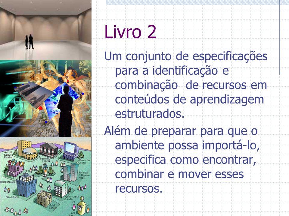 Livro 2 Um conjunto de especificações para a identificação e combinação de recursos em conteúdos de aprendizagem estruturados.