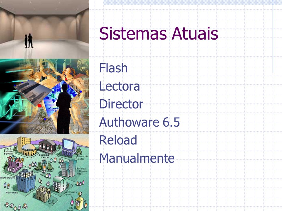 Sistemas Atuais Flash Lectora Director Authoware 6.5 Reload Manualmente