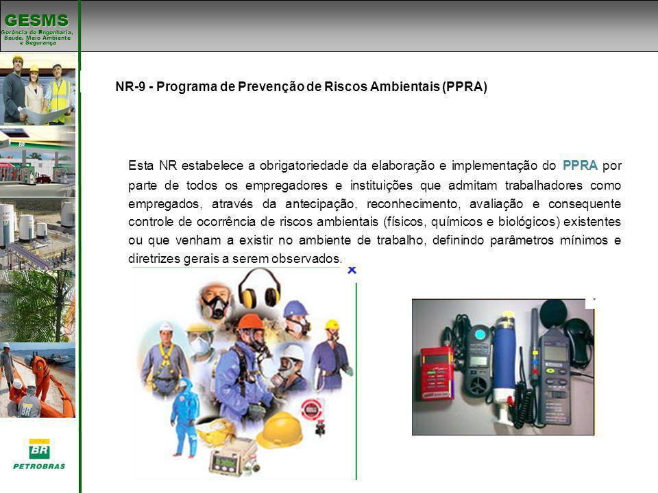 Gerência de Engenharia, Gerência de Engenharia, Saúde, Meio Ambiente e Segurança e Segurança GESMS Padrões de SMS NR-9 - Programa de Prevenção de Risc