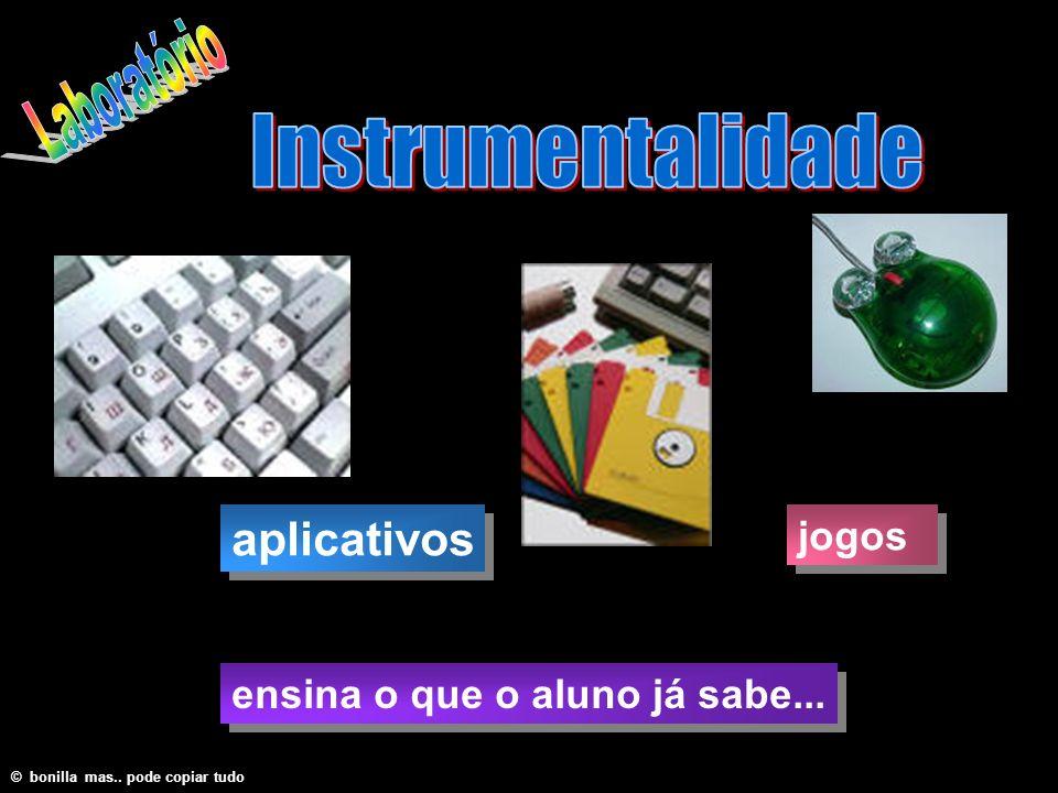 ensina o que o aluno já sabe... aplicativos © bonilla mas.. pode copiar tudo jogos