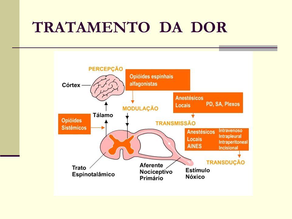 Lidocaína Venosa Diminui a resposta inflamatória à isquemia do tecido (formação de tromboxano A2) Atenua a lesão tecidual induzida por citocinas endoteliais e vasculares Por meio de mecanismos envolvendo: liberação de ATP e canal de K+ Reduz a produção de aminoácidos excitatórios RBA; Lauretti, GR; 2008 AÇÃO ANALGÉSICA