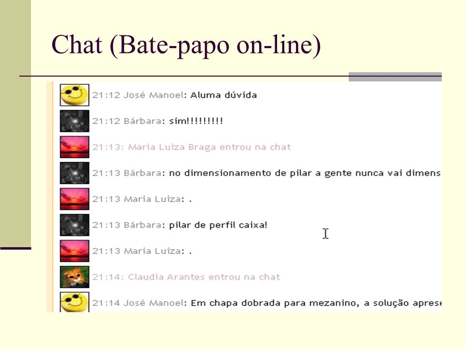 Chat (Bate-papo on-line)