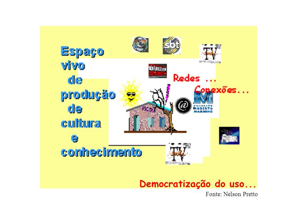 Fonte: Nelson Pretto Democratização do uso...