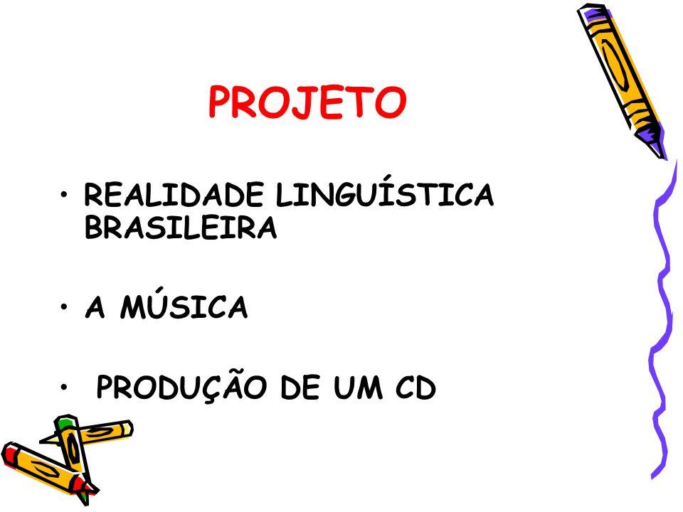 PROJETO REALIDADE LINGUÍSTICA BRASILEIRA A MÚSICA PRODUÇÃO DE UM CD