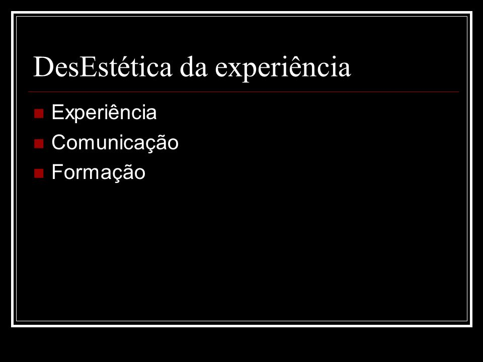 Experiência videográfica - recepção Pretexto Contexto Texto