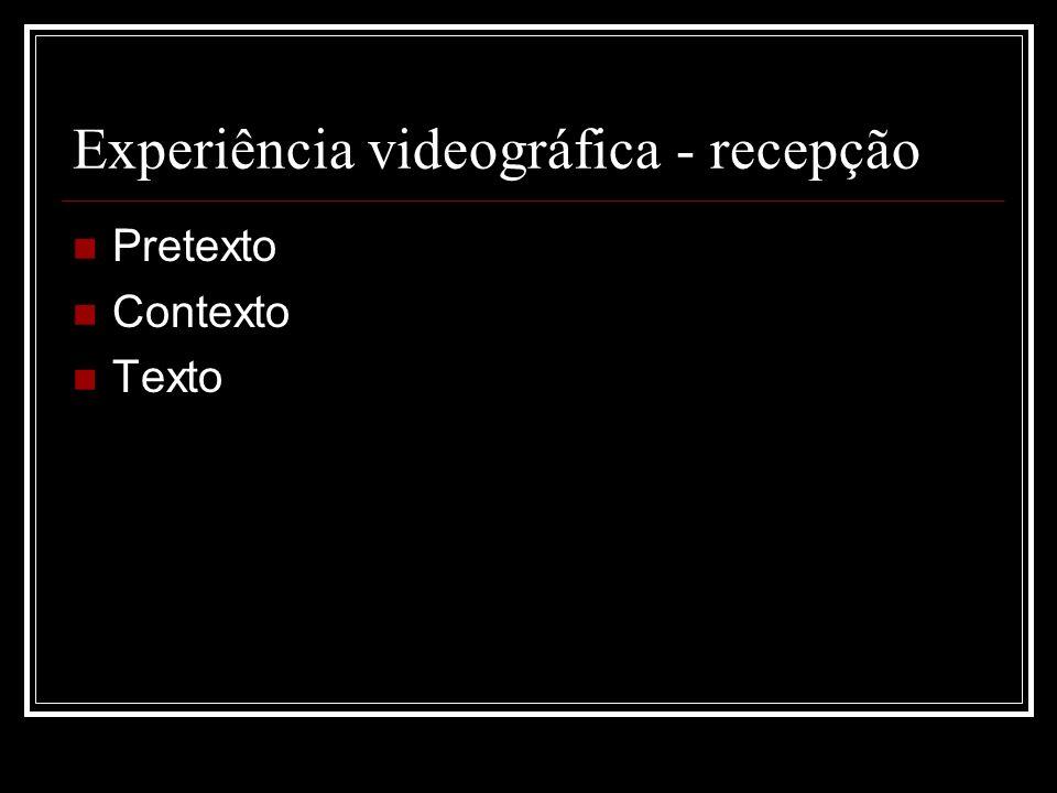 Experiência videográfica - produção Etnografia da etnografia