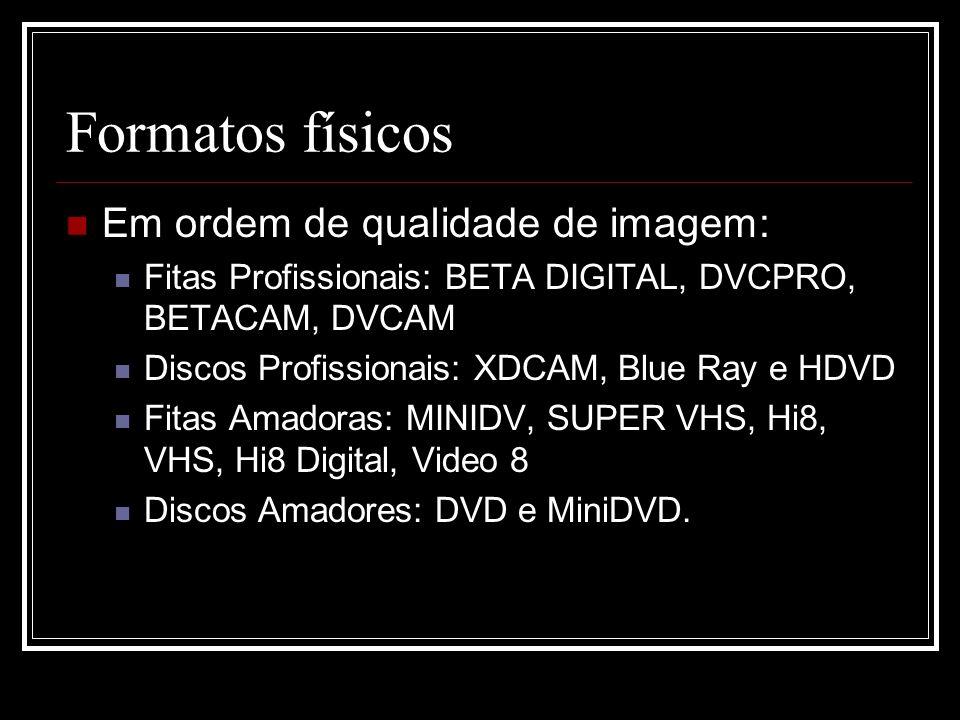Formatos virtuais AVI: Audio Video Interleave.Formato de vídeo mais usado em PCs com o Windows.