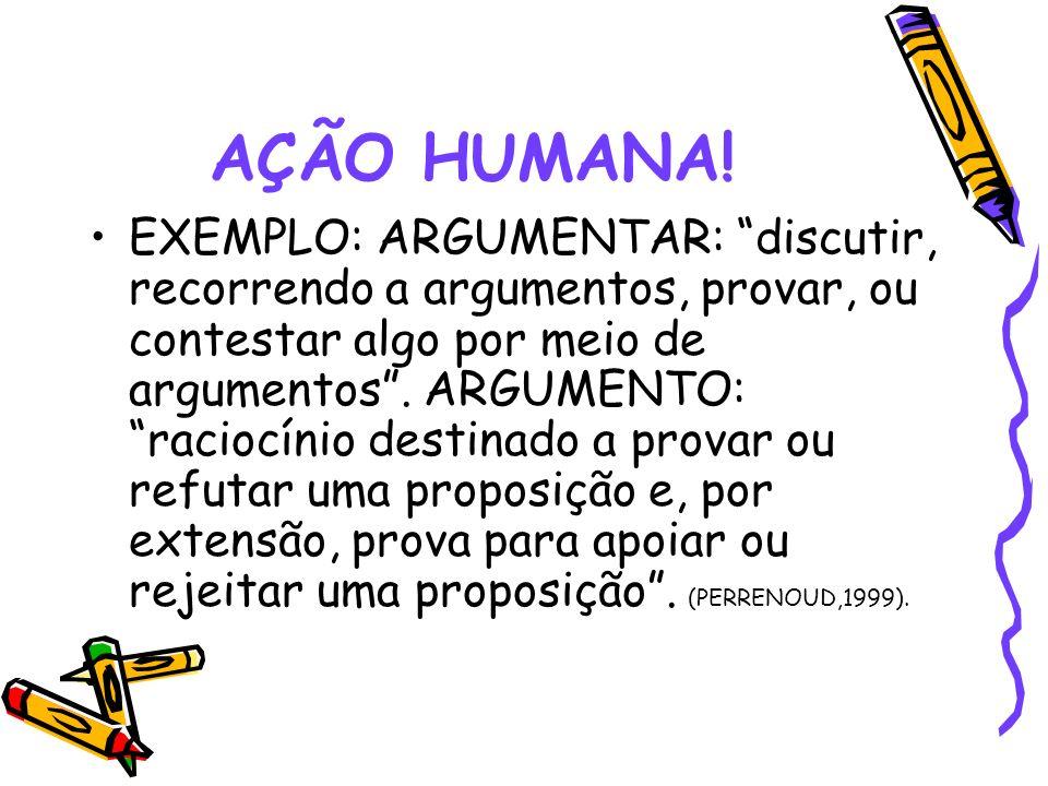 AÇÃO HUMANA.