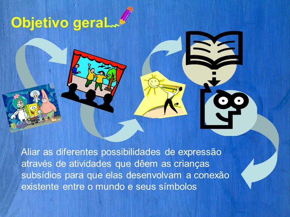 Aliar as diferentes possibilidades de expressão através de atividades que dêem as crianças subsídios para que elas desenvolvam a conexão existente ent