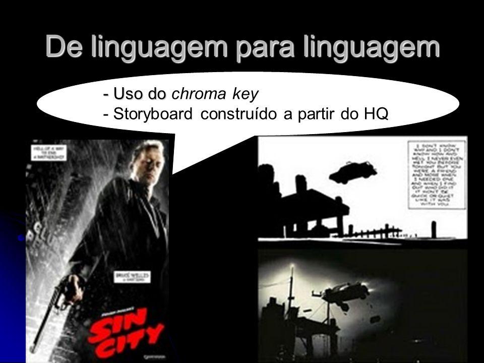 De linguagem para linguagem - Uso do - Uso do chroma key - Storyboard construído a partir do HQ