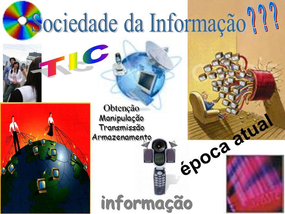 Obtenção Manipulação Transmissão Armazenamento Obtenção Manipulação Transmissão Armazenamento época atual informação