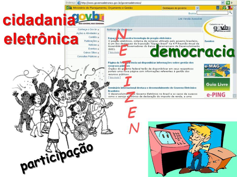 cidadania eletrônica cidadania eletrônica NETIZENNETIZEN participação democracia