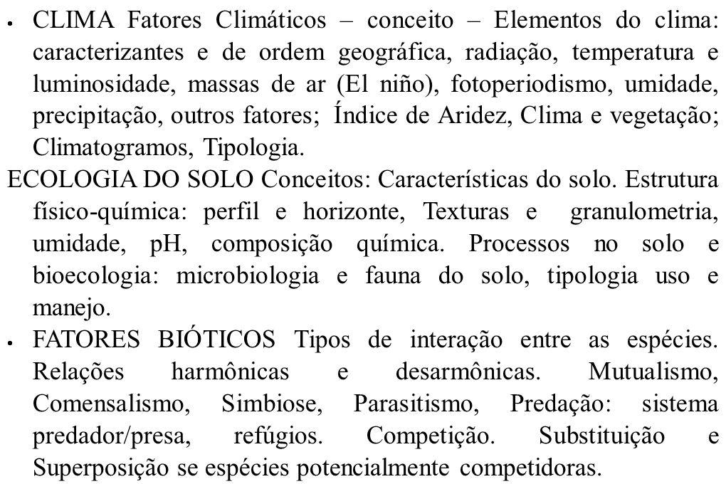 ECOLOGIA DINÂMICA – I – Produtividade Conceitos.