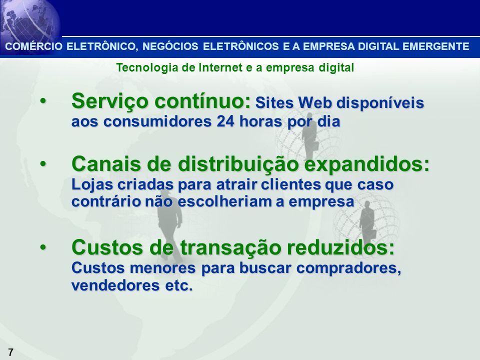 7 Serviço contínuo: Sites Web disponíveis aos consumidores 24 horas por diaServiço contínuo: Sites Web disponíveis aos consumidores 24 horas por dia C