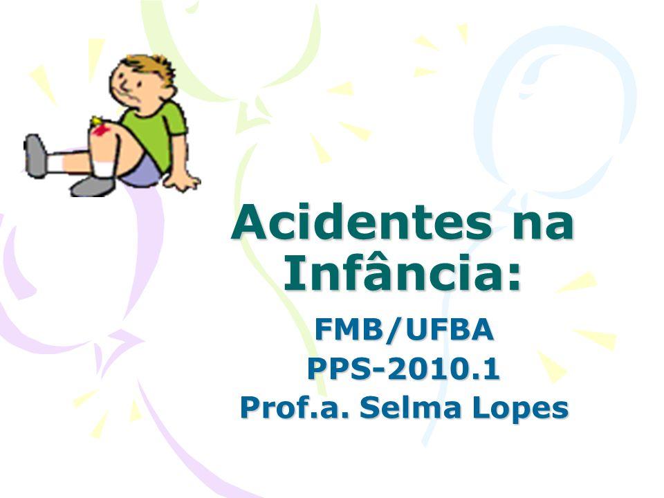 Acidentes na Infância: FMB/UFBAPPS-2010.1 Prof.a. Selma Lopes