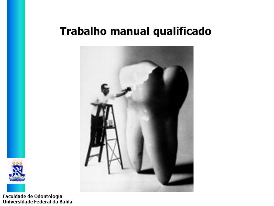 Faculdade de Odontologia Universidade Federal da Bahia Trabalho manual qualificado