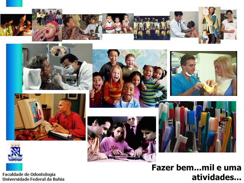 Faculdade de Odontologia Universidade Federal da Bahia Fazer bem...mil e uma atividades...