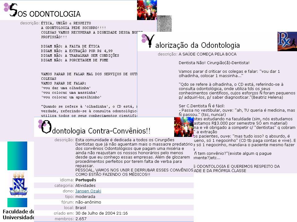 Faculdade de Odontologia Universidade Federal da Bahia Formas puras Autônomos atípicos Cooperados Formas atípicas Autônomos típicos Assalariados Proprietários Donnangelo (1975)