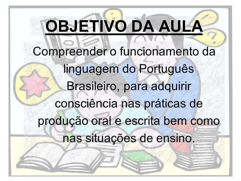 Momento inicial: Leitura do texto O gigolô das palavras, de Luis Fernando Veríssimo
