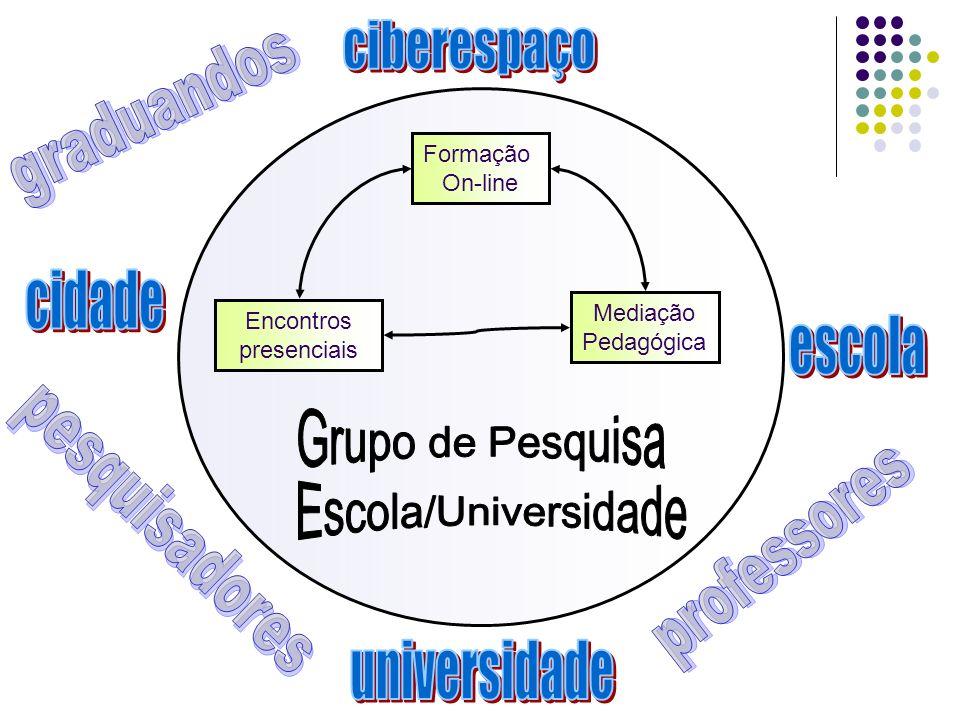 Formação On-line Mediação Pedagógica Encontros presenciais