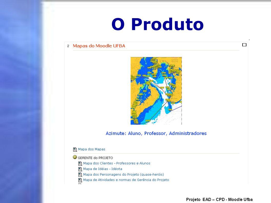 O Produto Projeto EAD – CPD - Moodle Ufba