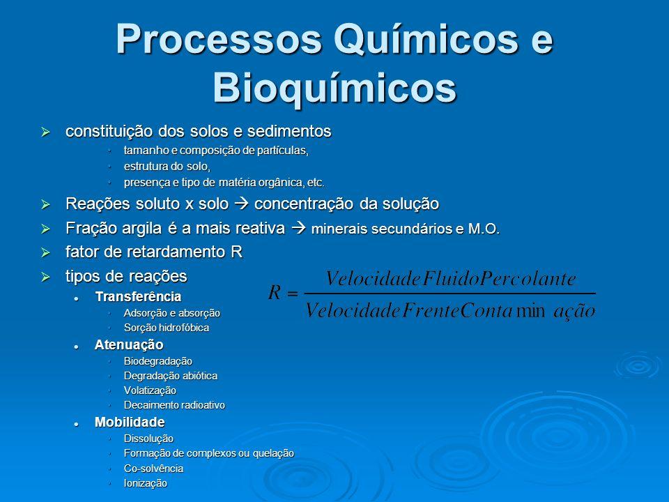 Processos Químicos e Bioquímicos constituição dos solos e sedimentos constituição dos solos e sedimentos tamanho e composição de partículas,tamanho e