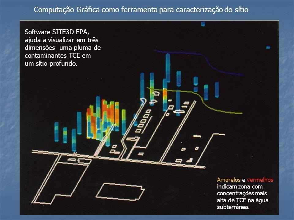 Computação Gráfica como ferramenta para caracterização do sítio Software SITE3D EPA, ajuda a visualizar em três dimensões uma pluma de contaminantes T
