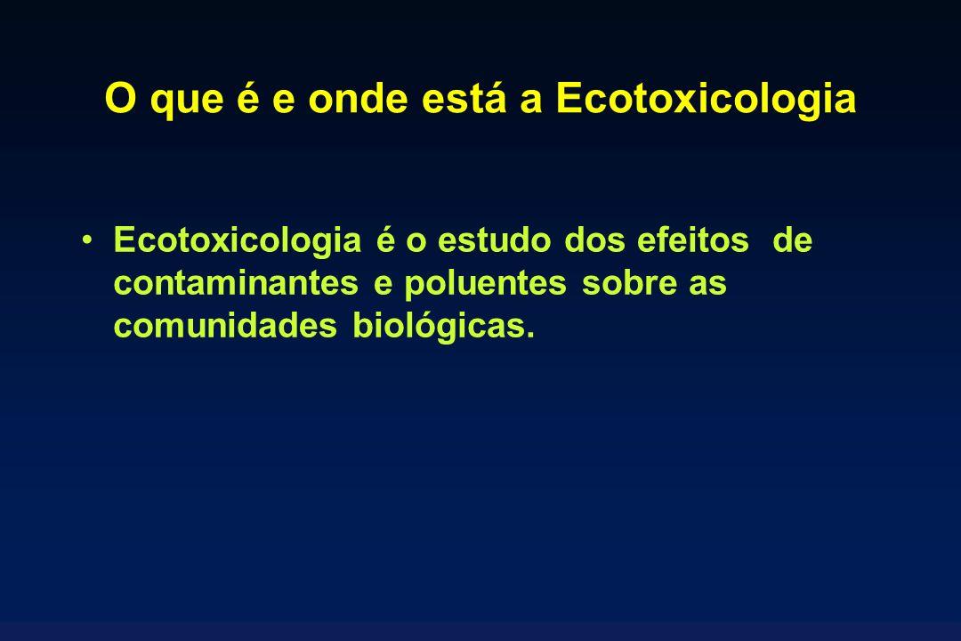 O que é e onde está a Ecotoxicologia Ecotoxicologia é o estudo dos efeitos de contaminantes e poluentes sobre as comunidades biológicas.