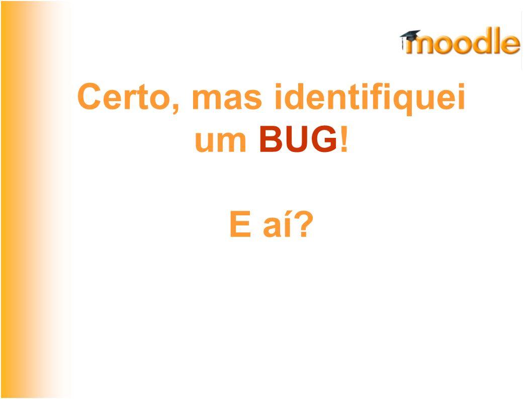 O Moodle como SL Compartilhe o que fez Exemplo: Bug #16152 do Moodle