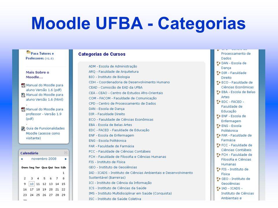 Moodle UFBA - Categorias