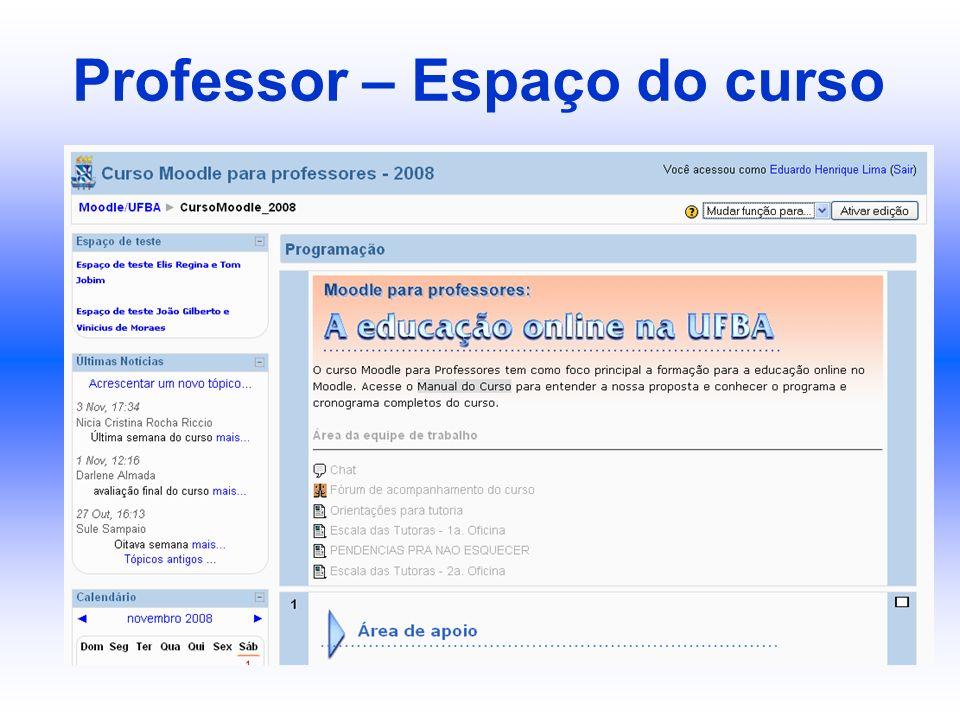 Professor – Espaço do curso