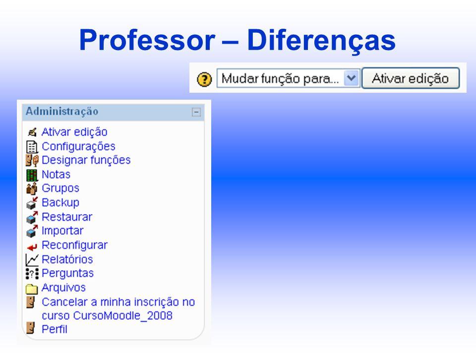 Professor – Diferenças