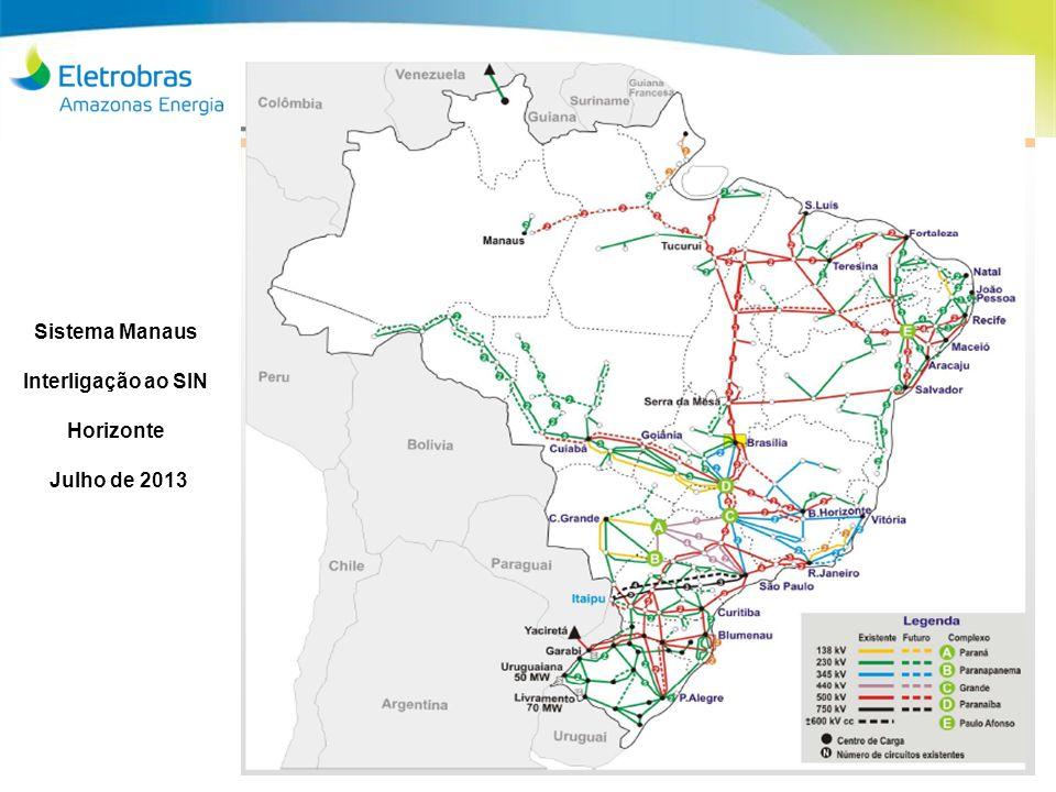 Sistema Manaus Interligação ao SIN Horizonte Julho de 2013